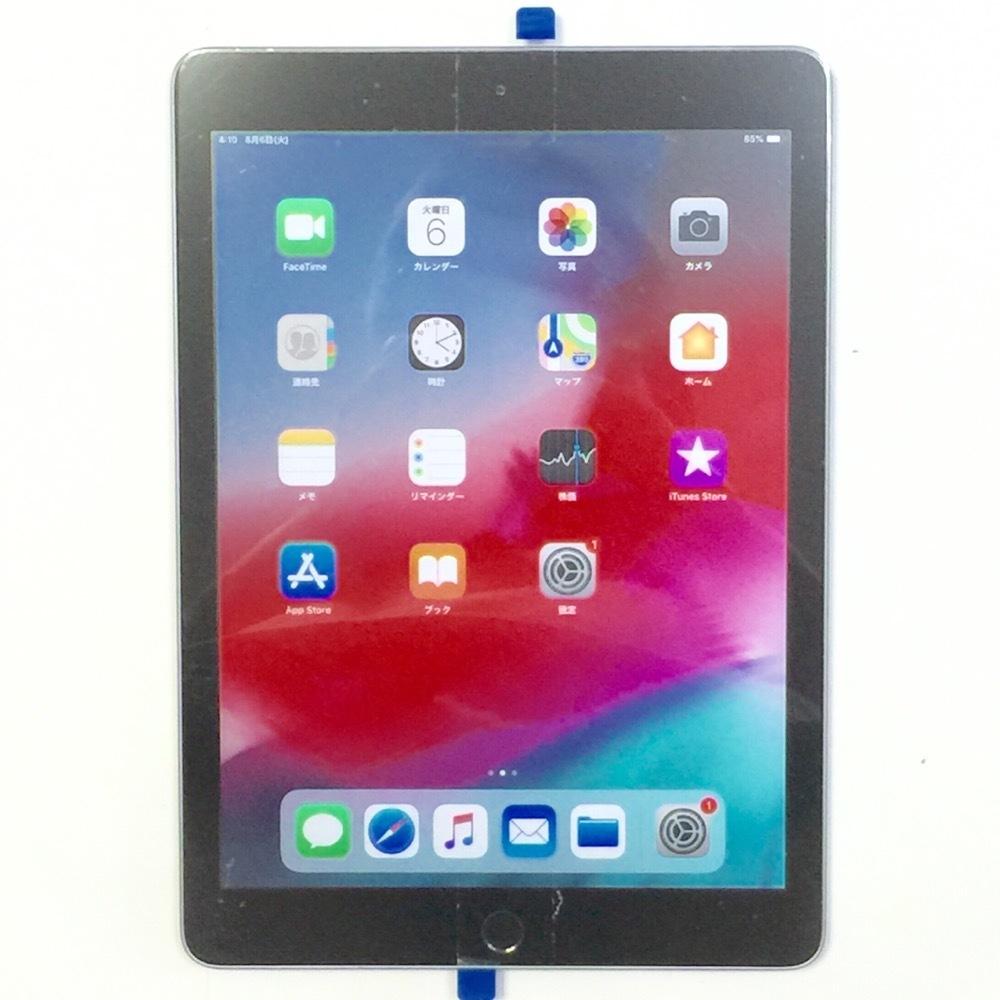 画面 新品交換済【保証60日 充電2回 バッテリー100% 超美品】iPad 第6世代 2018モデル 32GB グレイ Wi-Fi専用モデル