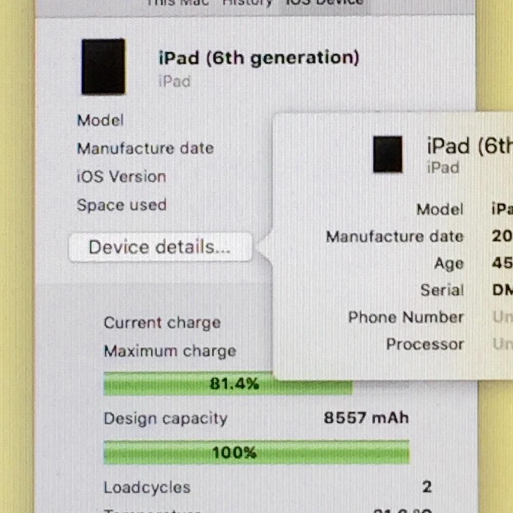 画面 新品交換済【保証60日 充電2回 バッテリー100% 超美品】iPad 第6世代 2018モデル 32GB グレイ Wi-Fi専用モデル_画像6