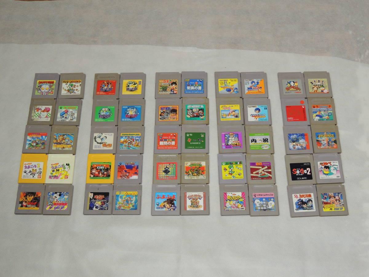 任天堂 Nintendo ニンテンドー GB ゲームボーイ ソフト まとめて 大量 50本 マリオ ロックマン ヨッシー ポケモン 等 ジャンク 中古 ①