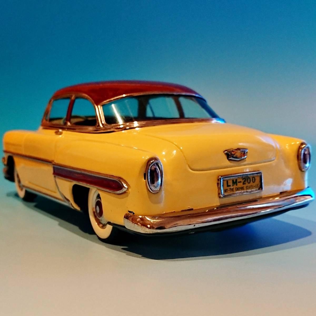 超希少ブリキ! ラインマー シボレー 世界に1つのツートンカラー Linemar Chevrolet マルサン/コスゲ製 リペイント 自動車 ビンテージ _画像7