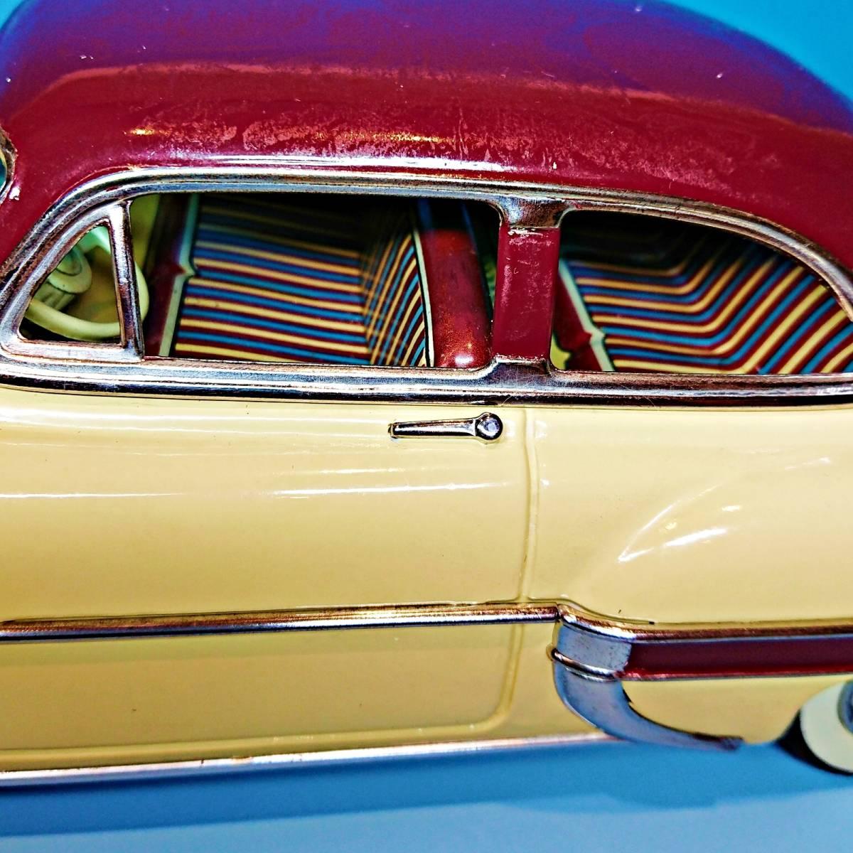 超希少ブリキ! ラインマー シボレー 世界に1つのツートンカラー Linemar Chevrolet マルサン/コスゲ製 リペイント 自動車 ビンテージ _画像6