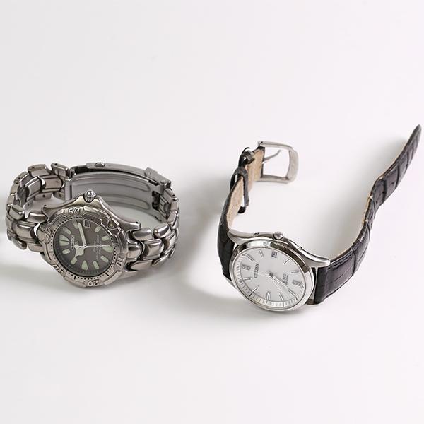 1円~ CITIZEN シチズン おまとめ2点セット EXCEED ECODRIVE H111-T015867 7873-H10007 エコドライブ メンズ 腕時計 中古_画像2