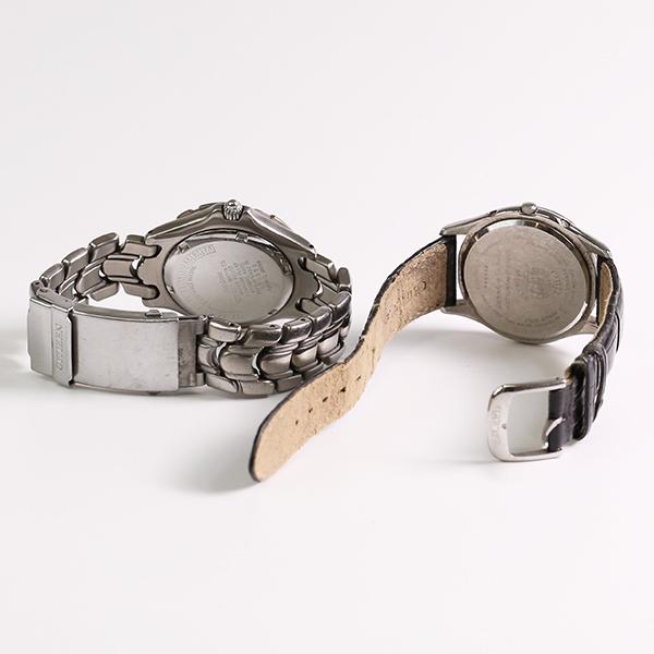 1円~ CITIZEN シチズン おまとめ2点セット EXCEED ECODRIVE H111-T015867 7873-H10007 エコドライブ メンズ 腕時計 中古_画像3