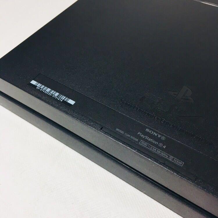 ⑤ 箱付き 美品 PS4 FW6.51 ブラック CUH 1000 A 本体 HDD 500GB 動作良好 封印シール あり SONY ソフト 読込確認済 プレステ4 説明書_画像4