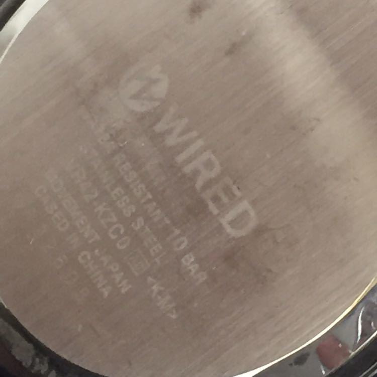 ★ 良品 ★SEIKO セイコー WIRED LIMITED EDITION ワイアード VR42-KZC0 クロノグラフ ソーラー 40mm 14cm 電波腕時計 メンズ 男性用 ★DD0_画像7