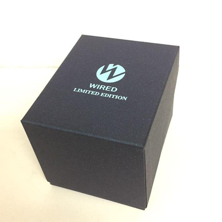 ★ 良品 ★SEIKO セイコー WIRED LIMITED EDITION ワイアード VR42-KZC0 クロノグラフ ソーラー 40mm 14cm 電波腕時計 メンズ 男性用 ★DD0_画像9