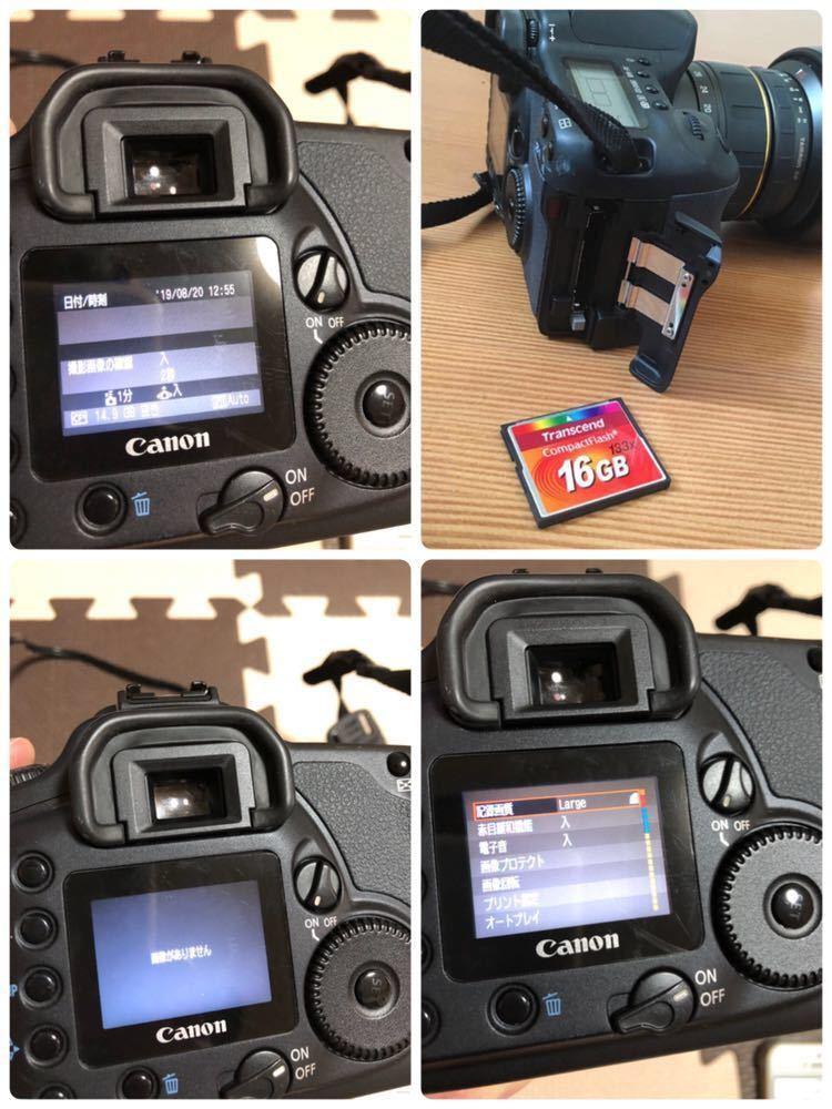 Canon キャノン デジタル一眼レフカメラ EOS 10D DIGITAL DS6031 TAMRON 20-40mm 1:2.7-3.5 動作未確認_画像9