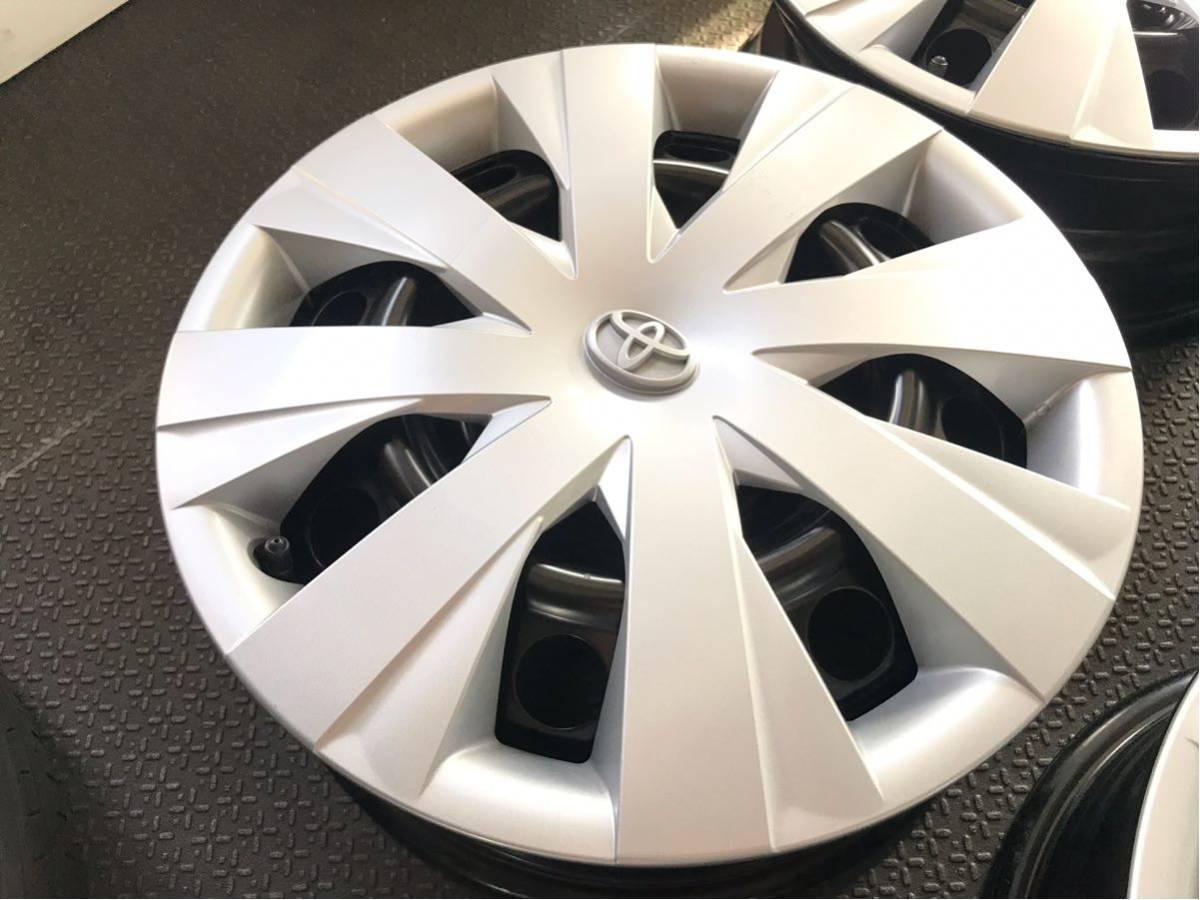★新車外し★トヨタカローラフィルダー(DAA-NKE165G)純正ホイールキャップ付スチールホイール鉄チン4本5J×15インチPCD100×4H_画像2