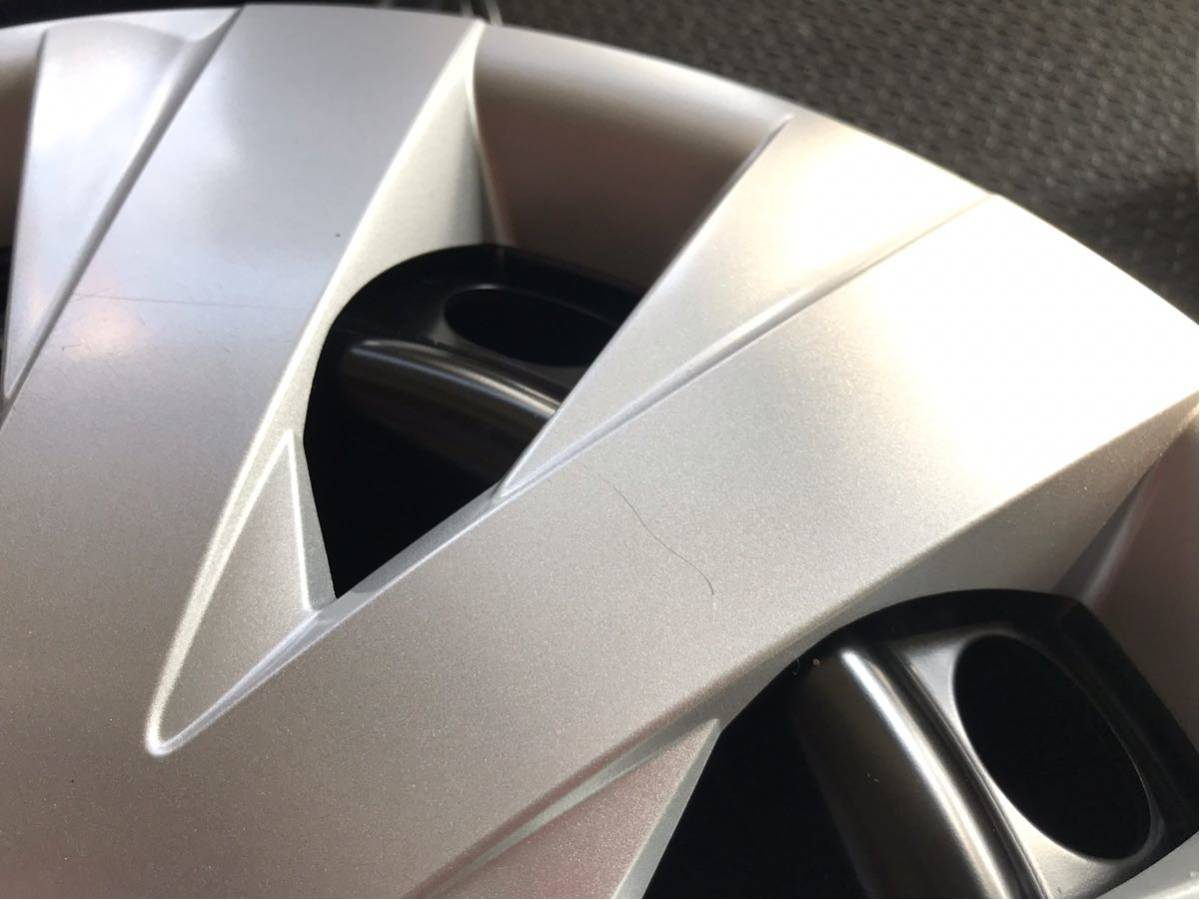 ★新車外し★トヨタカローラフィルダー(DAA-NKE165G)純正ホイールキャップ付スチールホイール鉄チン4本5J×15インチPCD100×4H_画像6
