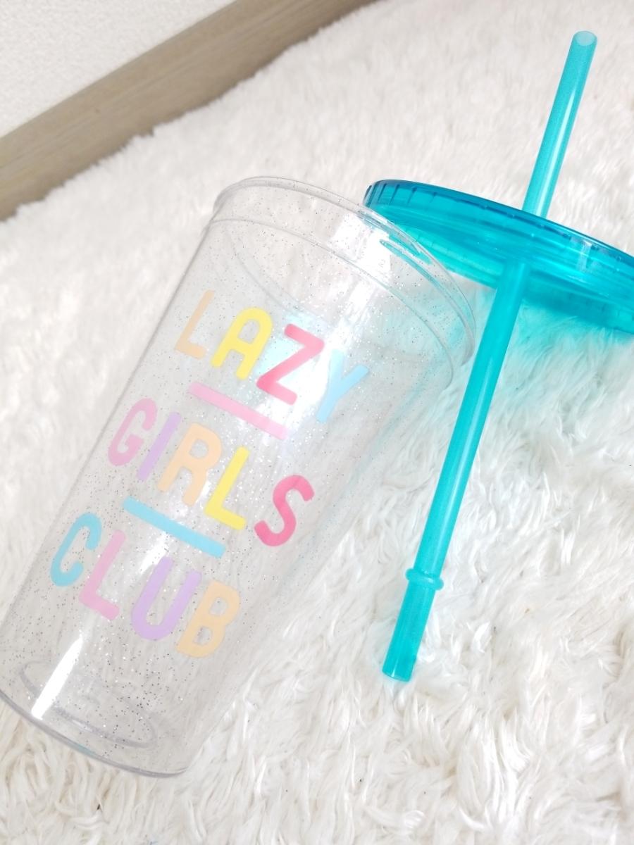 ☆新品未使用H&Mクリア×ブルー涼しげキラキララメ入りストロータンブラー海マイボトルお家カフェお出かけピクニック旅行ドリンクカップ☆_画像3