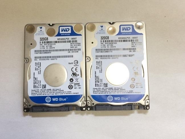 2個セット 正常 WD 320GB HDD 2.5インチ 5400rpm 7mm SATA  送185円 #5