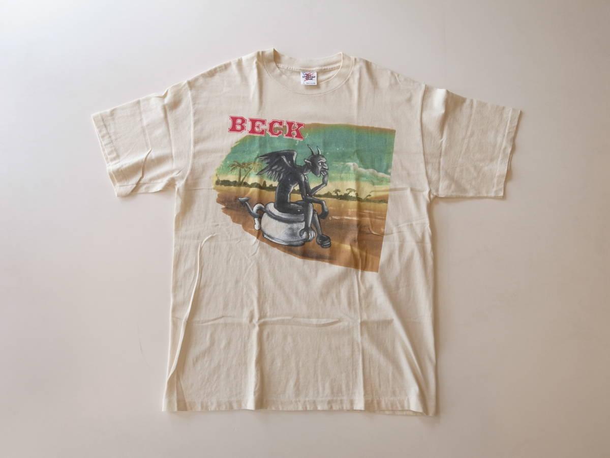 良品 1996年 コピーライト入り BECK ODELAY ビンテージ Tシャツ ロックT NIRVANA RADIOHEAD OASIS BLUR 90S