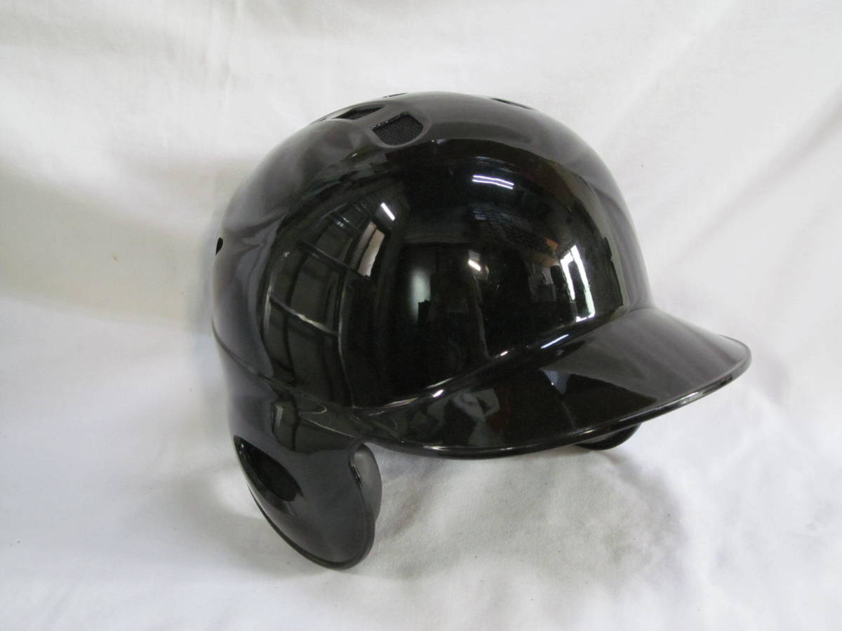 374 打者用ヘルメット 黒 Mサイズ サンプル品