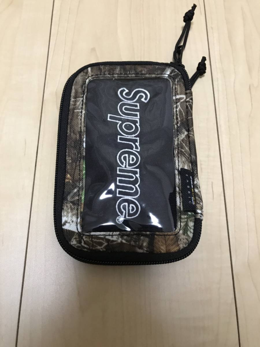 新品 国内正規 19aw Supreme Small Zip Pouch TREE CAMO カモ wallet boxlogo ウォレット 財布 Mary J. Blige シュプリーム_画像2