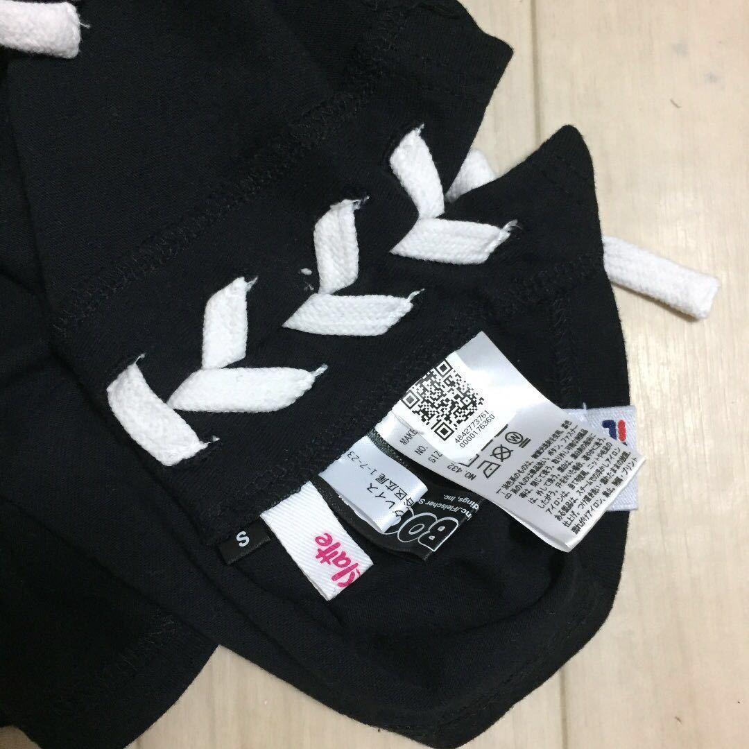 美品★ピンクラテ★FILAコラボ 可愛いプリント付きTシャツ♪S160_画像2