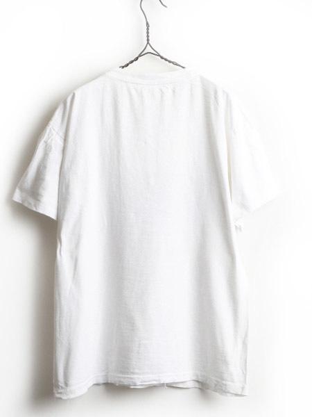 80's 大きいサイズ XL ■ マルコムX キング牧師 マンデラ メッセージ ビッグ プリント 半袖 Tシャツ ( 男性 メンズ ) 古着 80年代 偉人 白_画像5