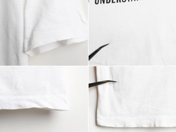 80's 大きいサイズ XL ■ マルコムX キング牧師 マンデラ メッセージ ビッグ プリント 半袖 Tシャツ ( 男性 メンズ ) 古着 80年代 偉人 白_画像3