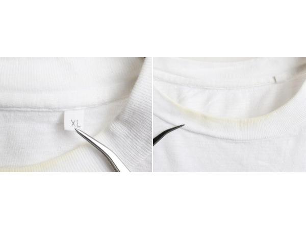80's 大きいサイズ XL ■ マルコムX キング牧師 マンデラ メッセージ ビッグ プリント 半袖 Tシャツ ( 男性 メンズ ) 古着 80年代 偉人 白_画像4