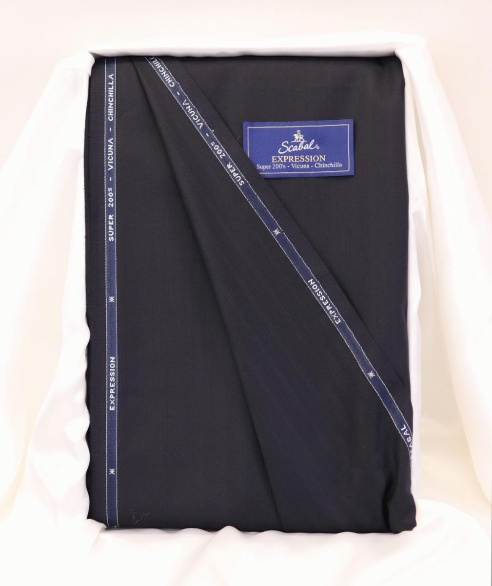 ■スキャバル幻の「エクスプレッション」濃紺織柄・服地価格200万円・未体験の心地良さです。_画像1