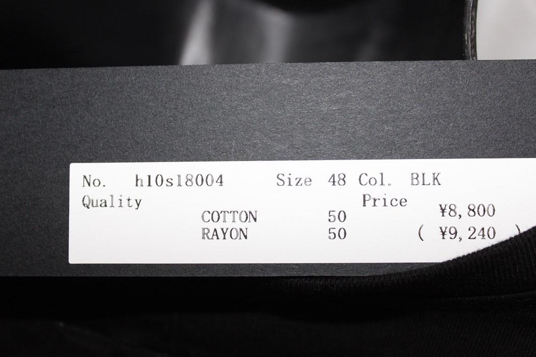 エイチワイエム hym メンズ 長袖 Tシャツ ブラック Mサイズ 日本製 新品 h10s18004_画像4