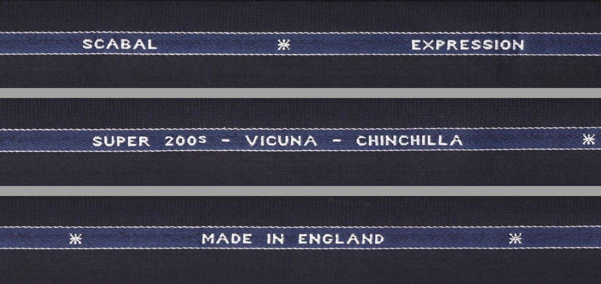 ■スキャバル幻の「エクスプレッション」濃紺織柄・服地価格200万円・未体験の心地良さです。_画像4
