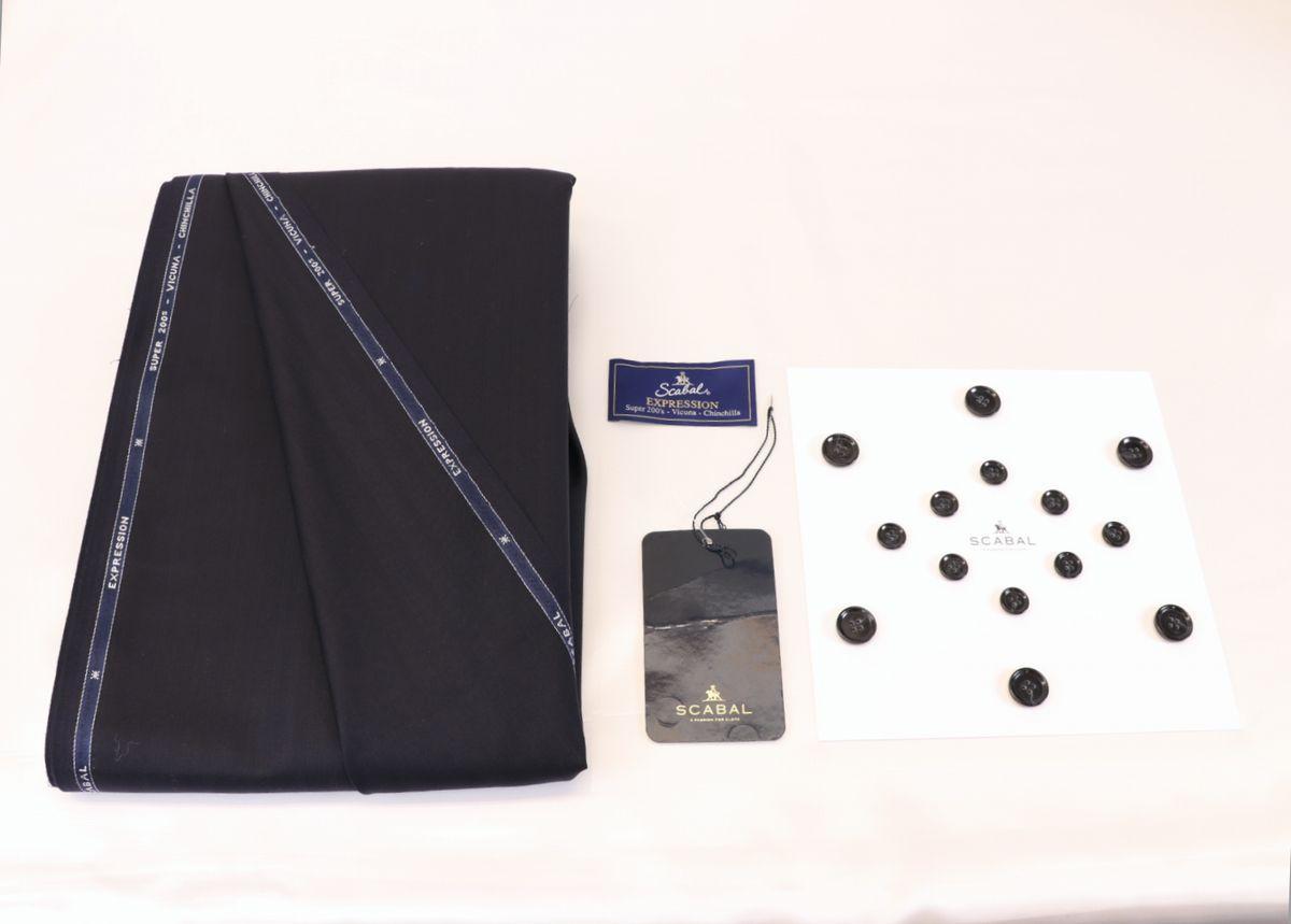 ■スキャバル幻の「エクスプレッション」濃紺織柄・服地価格200万円・未体験の心地良さです。_画像9