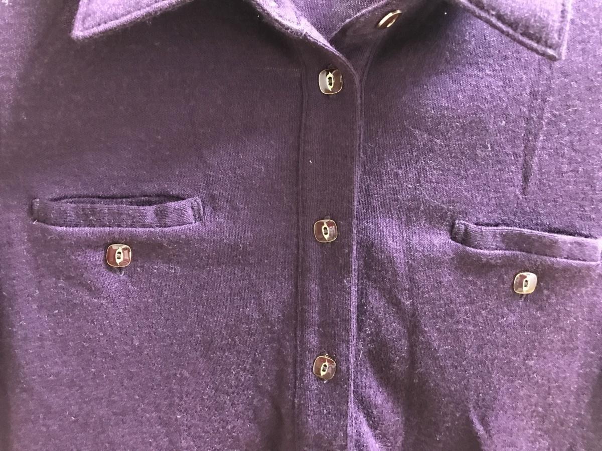 ■【YS-1】 NOMBRE IMPAIR ノンブル アンペール ■ ウール 長袖シャツ ■ パープル系 紫系 ■ フリーサイズ 【東京発 手渡し可能】■D_画像3