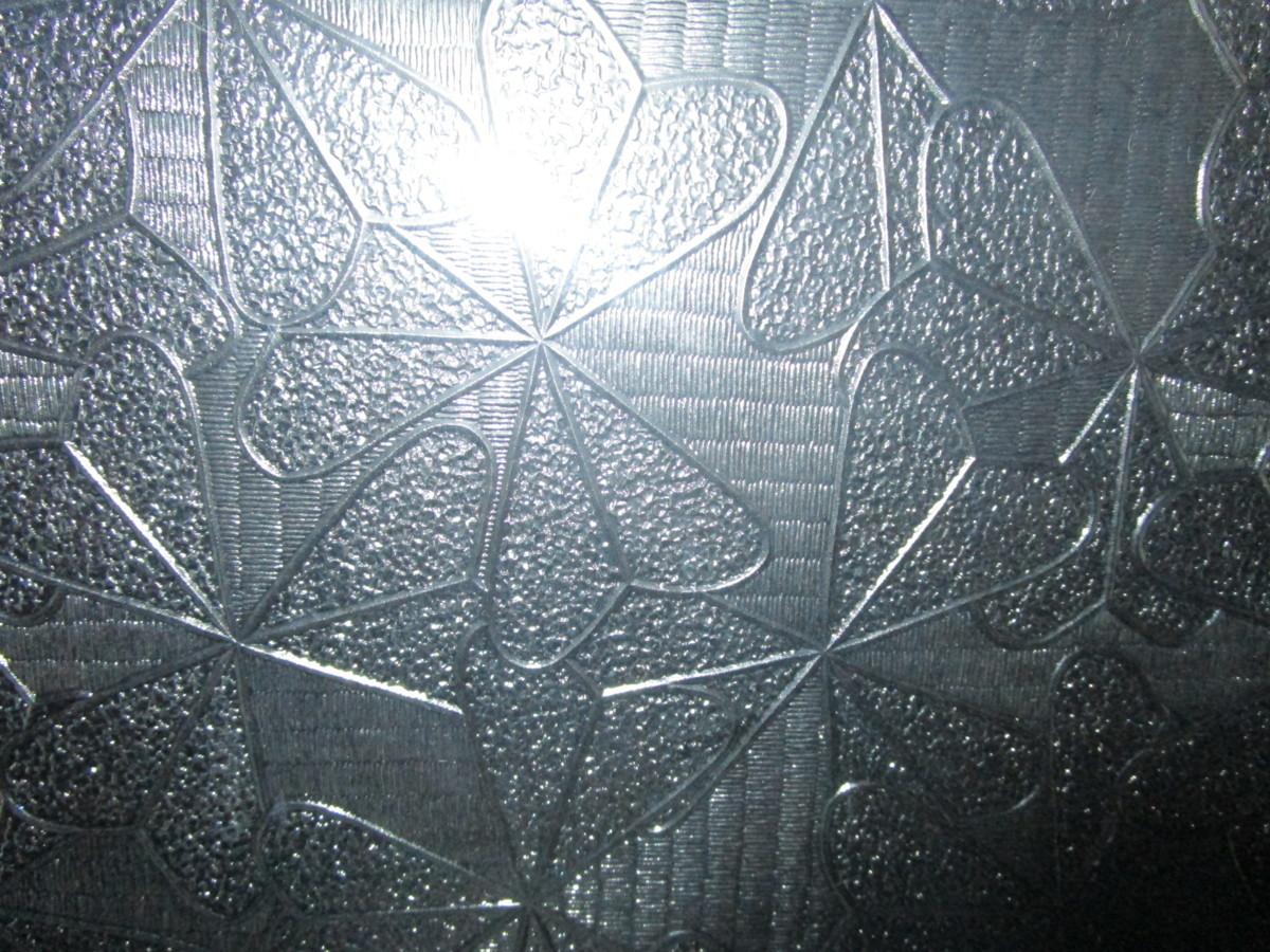 9082823■ガラス■板ガラス■レトロ硝子■模様ガラス■ 約367mm×450mm×2mm_画像2