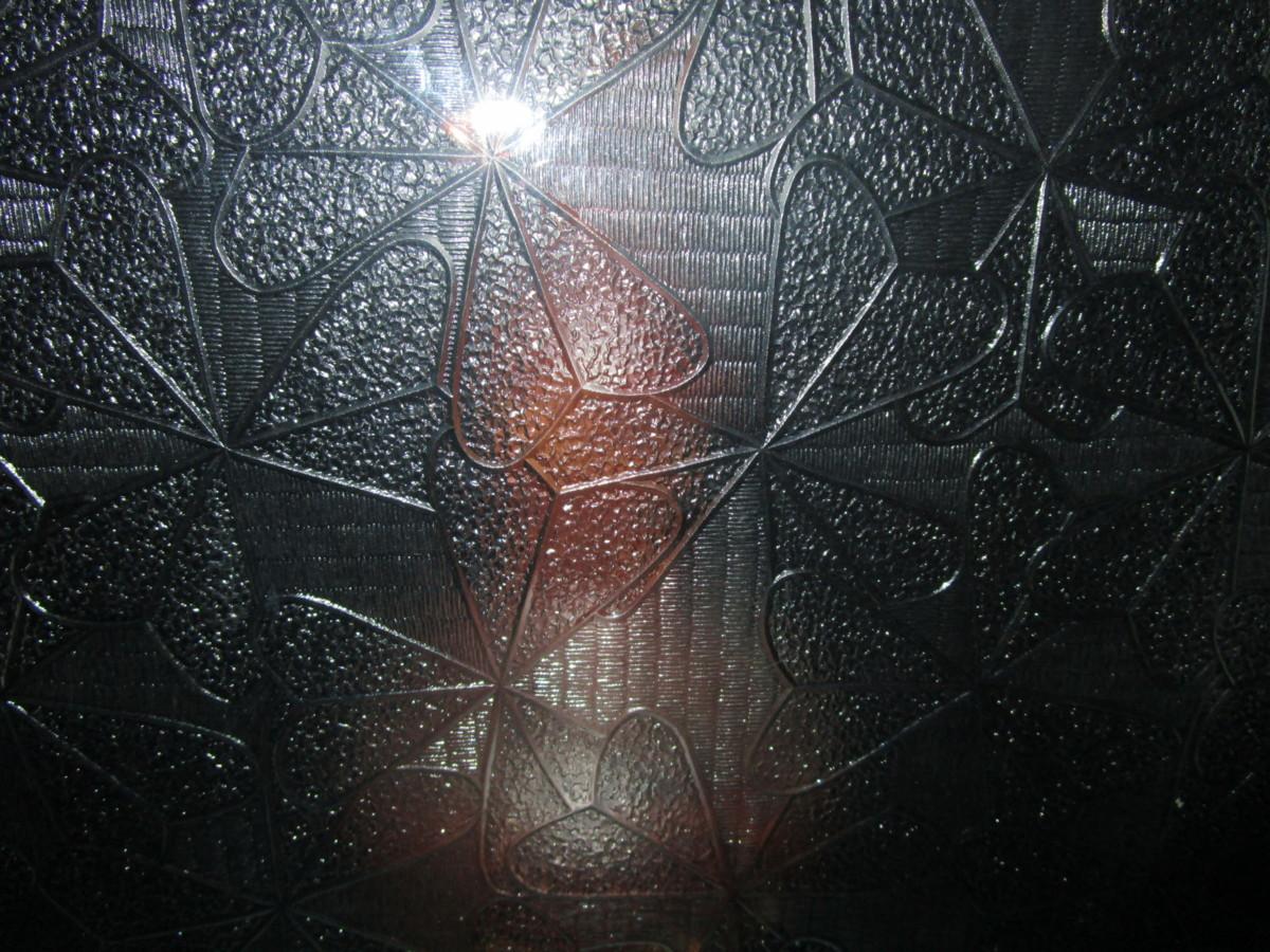 9082823■ガラス■板ガラス■レトロ硝子■模様ガラス■ 約367mm×450mm×2mm_画像3