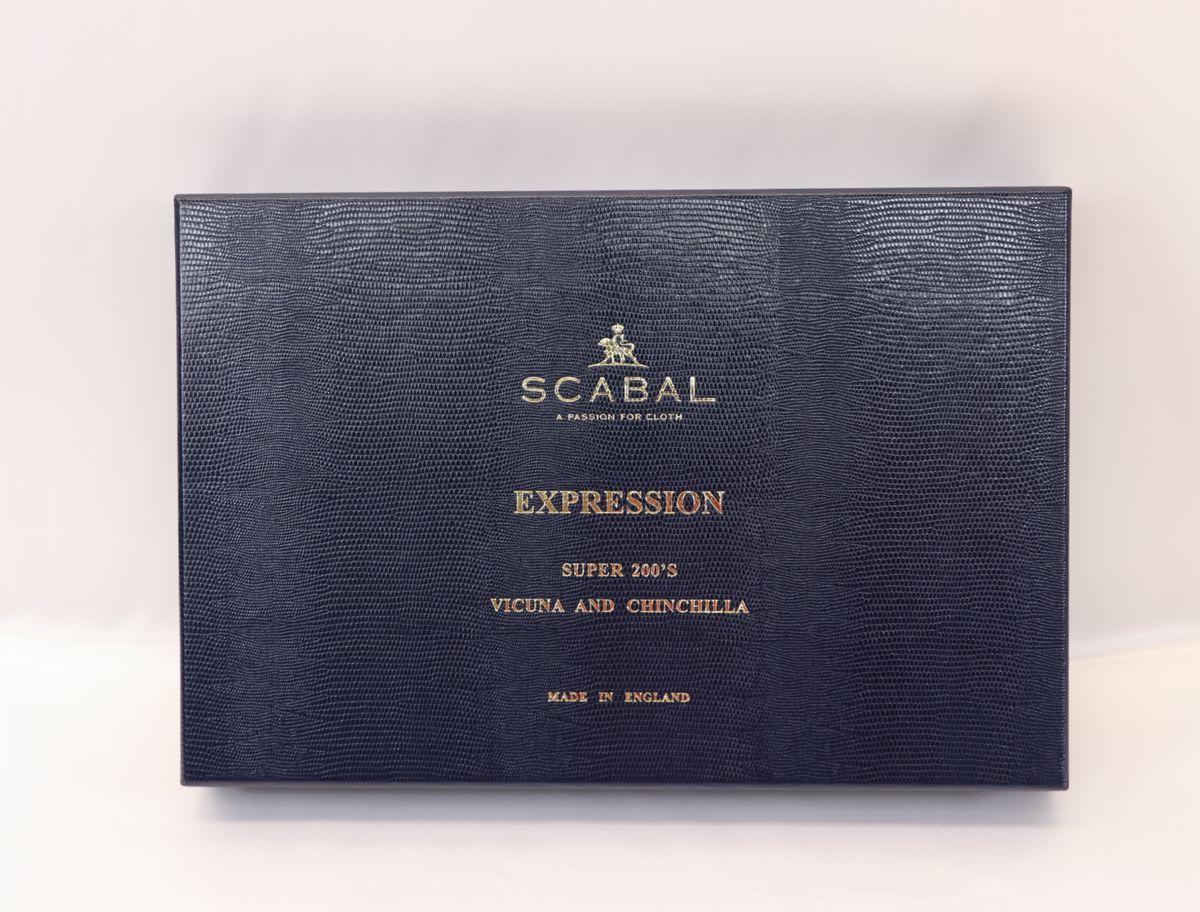 ■スキャバル幻の「エクスプレッション」濃紺織柄・服地価格200万円・未体験の心地良さです。_画像8