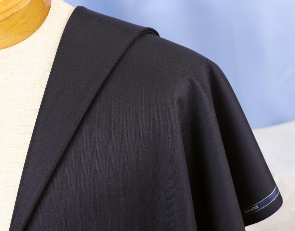 ■スキャバル幻の「エクスプレッション」濃紺織柄・服地価格200万円・未体験の心地良さです。_画像2