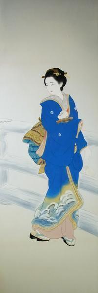 模写漆絵 三木翠山の名作_維新の花 NH72 ユーラシアアート_画像1