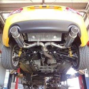新品!マツダNCECロードスター後期(AT車)用rosso modello(ロッソモデロ)GT-Xスポーツマフラー 安心の車検対応品!_画像3