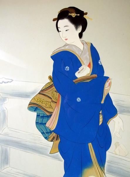 模写漆絵 三木翠山の名作_維新の花 NH72 ユーラシアアート_画像2