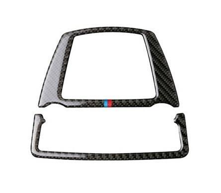 BMW ルーム ランプ ライト カバー ルーフ デカール インテリア トリム F10F11F07 F25F26 X3X4 Mスポーツなど 黒 カーボン柄 Mカラー_画像3