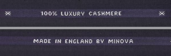■最高級カシミア100%のスーツ生地!名門「ミノバ社」の濃紺無地・羽衣のように気持ちいい。_画像3