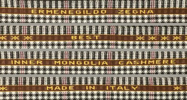■イタリア「ゼニア」の最高級ジャケット生地「BEST」ベスト・内モンゴルカシミア100%・白黒シェパードチェック_画像3