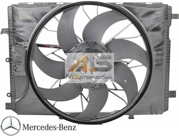 【M's】W212 W207 Eクラス/W218 X218 CLSクラス/X204 GLKクラス 純正 ラジエター 電動ファン アディショナルファン 2049066802 2045000293_画像1