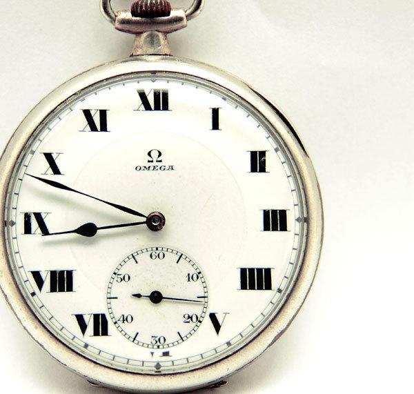 OMEGA/オメガ 懐中時計 スモールセコンド ローマン 手巻き 動作品 アンティーク/ビンテージ_画像1