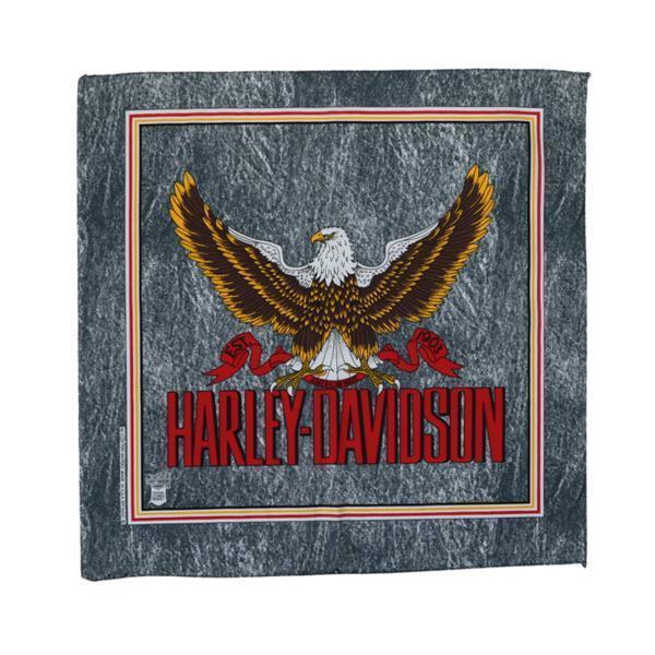 HARLEY DAVIDSON ハーレーダヴィッドソン USA製 デッドストック ヴィンテージ バンダナ ② 未使用品 イーグル柄 オフィシャルアイテム *HC1_画像1