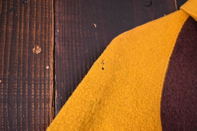 【自動値下げ対象外】 ビンテージ 30's Jerstman SPORTSWEAR Gentral ツートーン ウール スポーツジャケット 鳩目 ハトメ コの字 古着_画像8