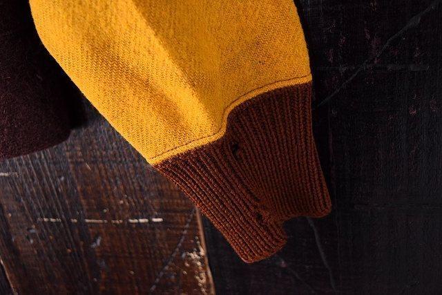 【自動値下げ対象外】 ビンテージ 30's Jerstman SPORTSWEAR Gentral ツートーン ウール スポーツジャケット 鳩目 ハトメ コの字 古着_画像10