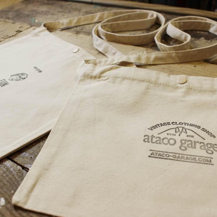 【スタンプデザインataco garageロゴマーク】ataco garage originals オリジナルスタンプ キャンバス サコッシュ ショルダーバッグ_画像8