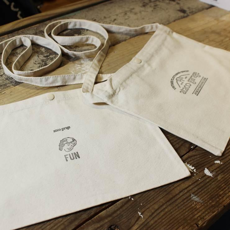【スタンプデザインataco garageロゴマーク】ataco garage originals オリジナルスタンプ キャンバス サコッシュ ショルダーバッグ_画像7