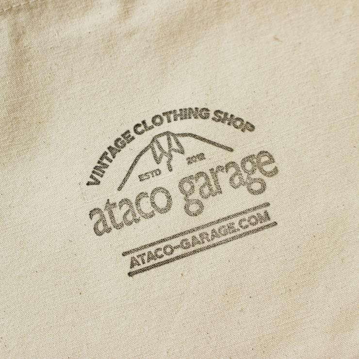 【スタンプデザインataco garageロゴマーク】ataco garage originals オリジナルスタンプ キャンバス サコッシュ ショルダーバッグ_画像6