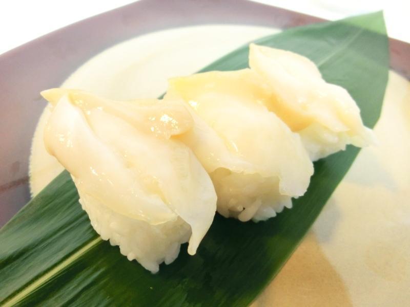 【Max】新鮮! 生つぶ貝 スライス(開き) 1パック20枚入り_寿司ネタの定番!つぶ貝のにぎり