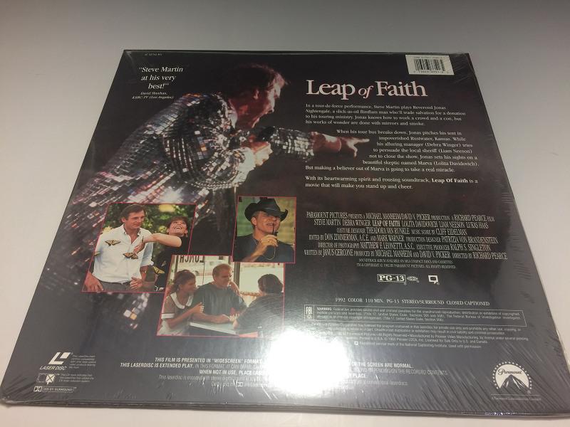 ★新品未開封★ LEAP OF FAITH ◆LD(レーザーディスク) 輸入盤_画像2