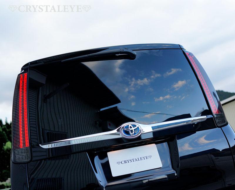 80 ヴォクシー、ノア、エスクァイア ファイバーLEDテール クリスタルアイ 新発売 L字型流れるウインカー仕様 送料無料 レッドタイプ■_スモークタイプ