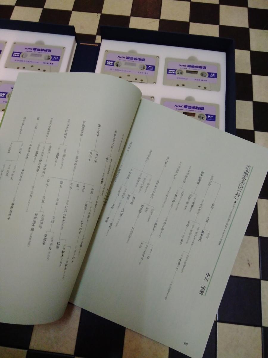 NHK浪曲名作選 / 広沢虎三 他 カセット・テープ12本組セット 64ページ本付き_画像6