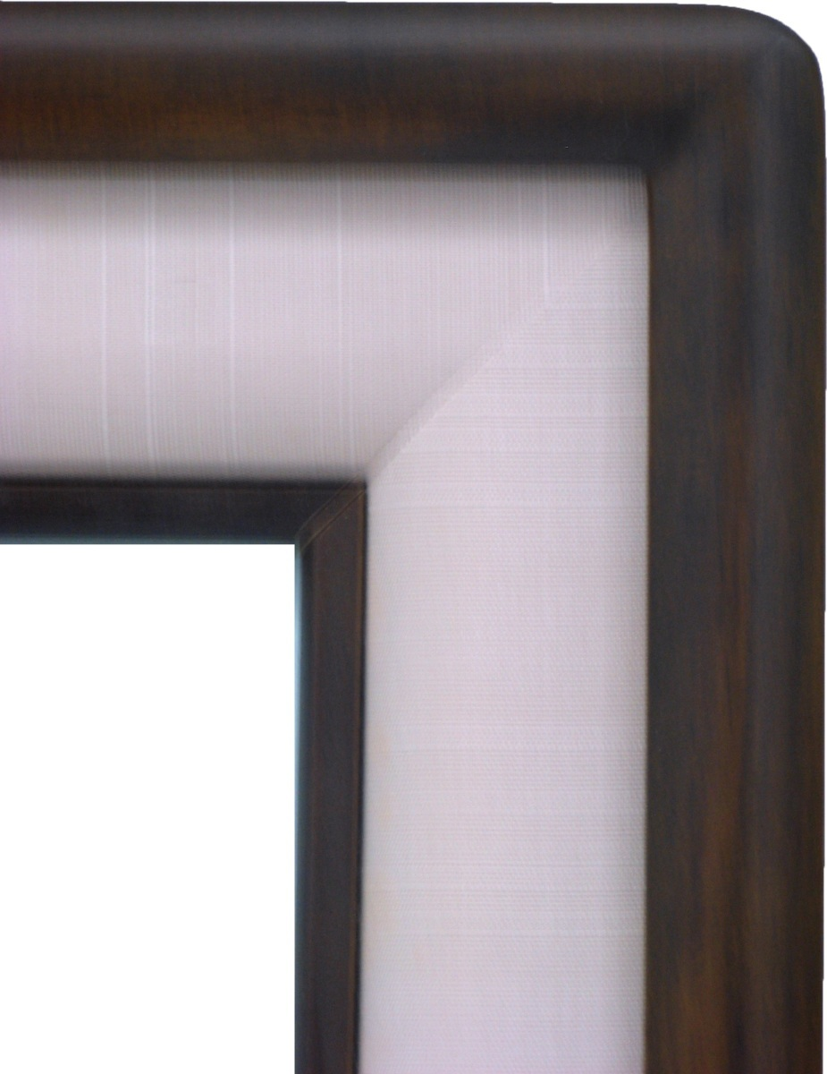 額縁 アートフレーム 色紙額縁 木製 硯屏 4804 コクタン色/グレー (8X9寸)_画像2